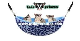 NIDO HAMACA - LEOPARDO AZUL