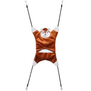 Hamaca Peluche, 26×23 cm, Marrón - Nidos para petauros - Hamaca Petauro del Azucar - Casitas Petauros - Sugar Glider Nest
