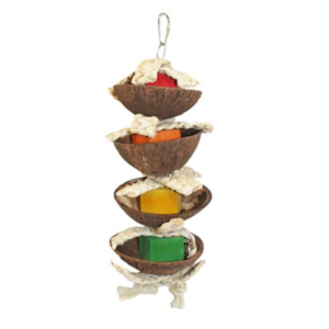 torre comedero de forrajeo para petauros del azucar forage foraging sugar glider feeder cage toy coconut