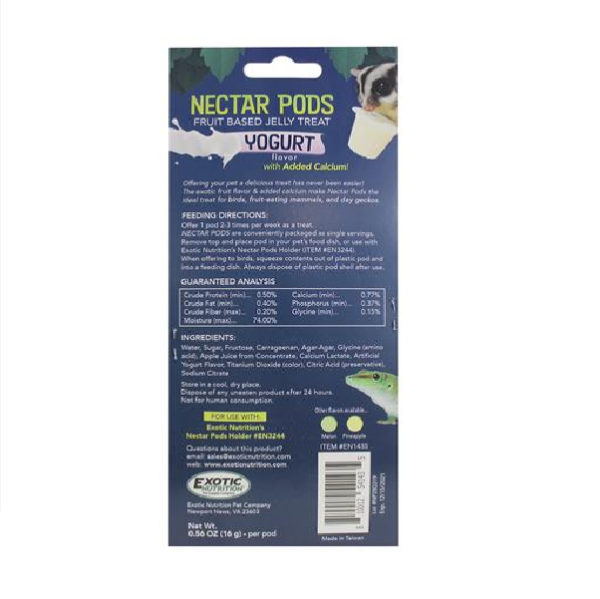 nectar pods exotic nutrition nectar para petauros tarrina de nectar petauro del azucar sugar glider nectar pods MIX